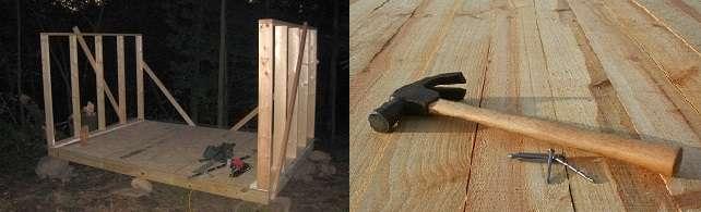 В курятнике пол можно оставить земляным или выполнить его из досок