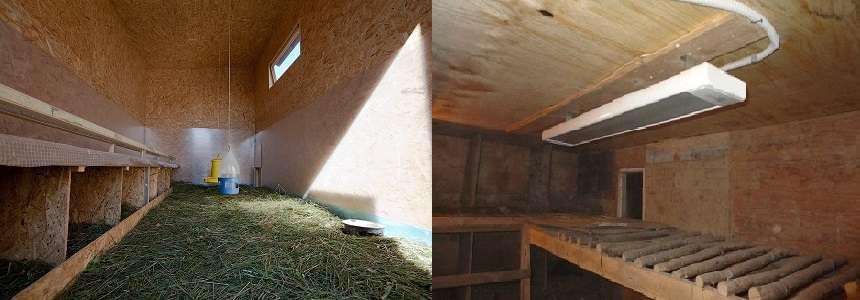 внутрь устанавливают электрические лампы с приглушенным светом