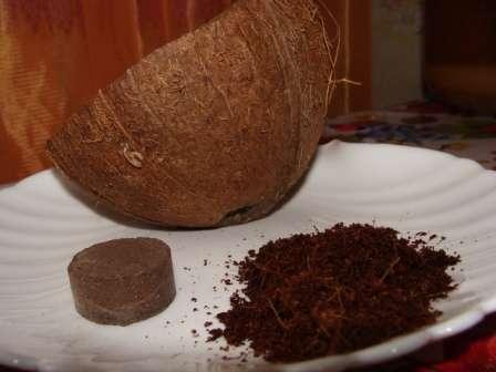 В процессе изготовления таблеток для рассады кокосовая кожура проходит процесс измельчения, ферментации, просушивания и прессования.