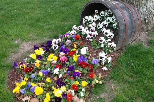 Цветочный поток — это популярный и очень интересный прием в оформлении ландшафта.