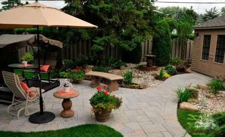 Занимаясь дизайном двора, изучите и обязательно учитывайте особенности отдельных его зон.