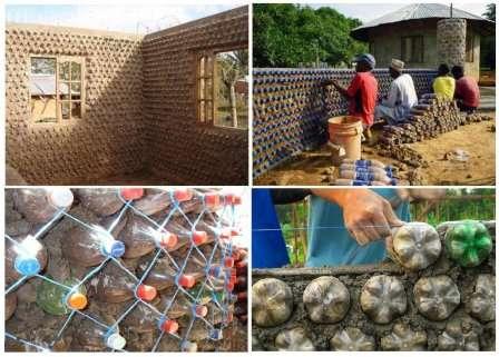 Пластиковые бутылки легко могут заменить строительные материалы.