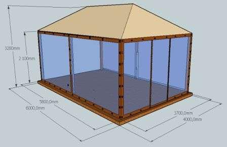 Создавая чертеж, важно учитывать, что перед мангалом должно оставаться место для свободного перемещения — как минимум 2,4 х 1,7 м.