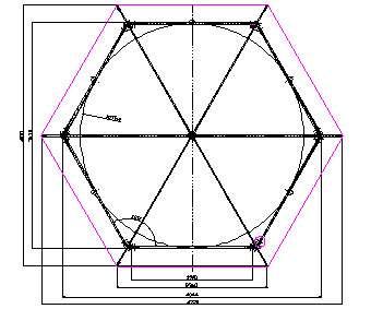 Взявшись за создание шестигранной конструкции на своем участке собственными руками, важно четко просчитать размер сторон на схеме и точно перенести в реальную жизнь.