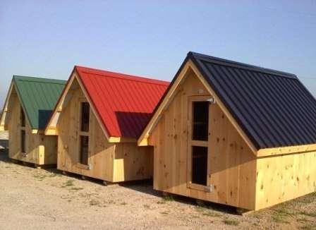 Чаще всего для курятников используется двускатная крыша.