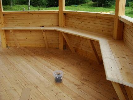 Самостоятельно строим дачную деревянную беседку: способы, этапы и характеристики