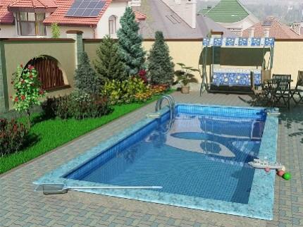 Бетонный бассейн на дачном участке: преимущества, недостатки и этапы строительства