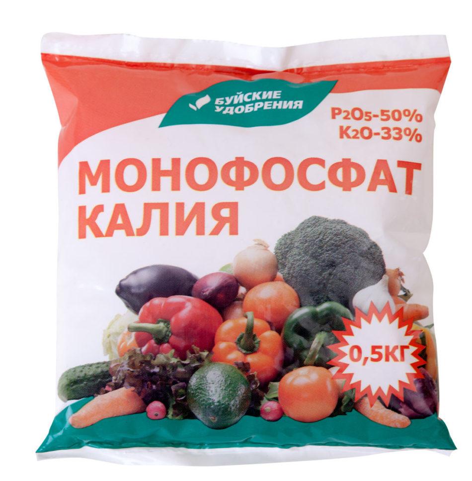 Монофосфат калия: применение удобрения, его состав, рекомендации по внесению