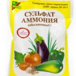 Сульфат аммония: применение удобрения на огороде, его свойства и формула