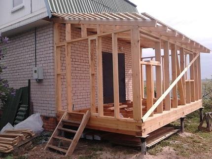 Пристройка к дому из бруса своими руками: преимущества и этапы строительства